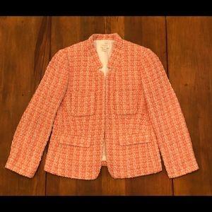 J. CREW Textured Pink Coral Beige Blazer Jacket